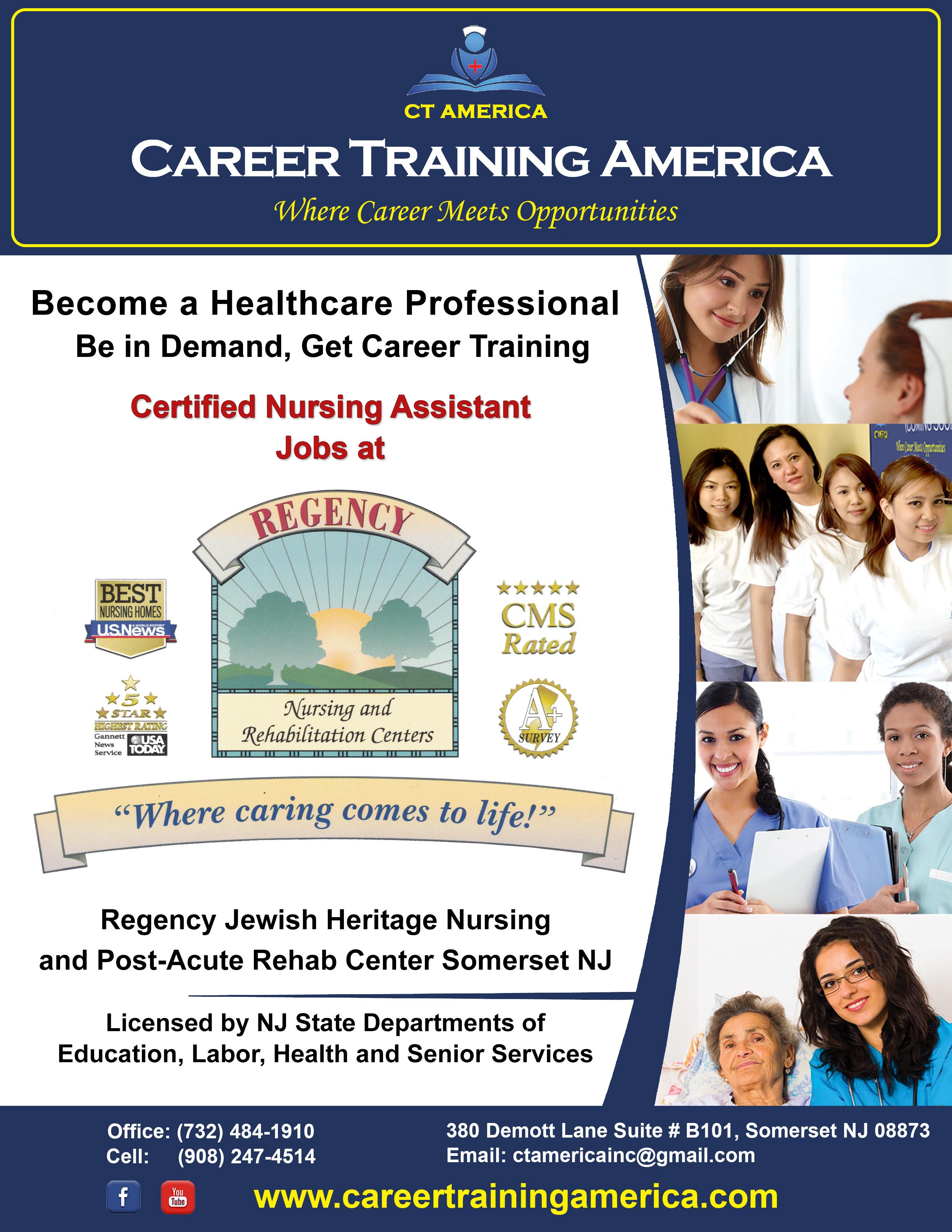Cna Nursing Training Career Training America Somerset Nj